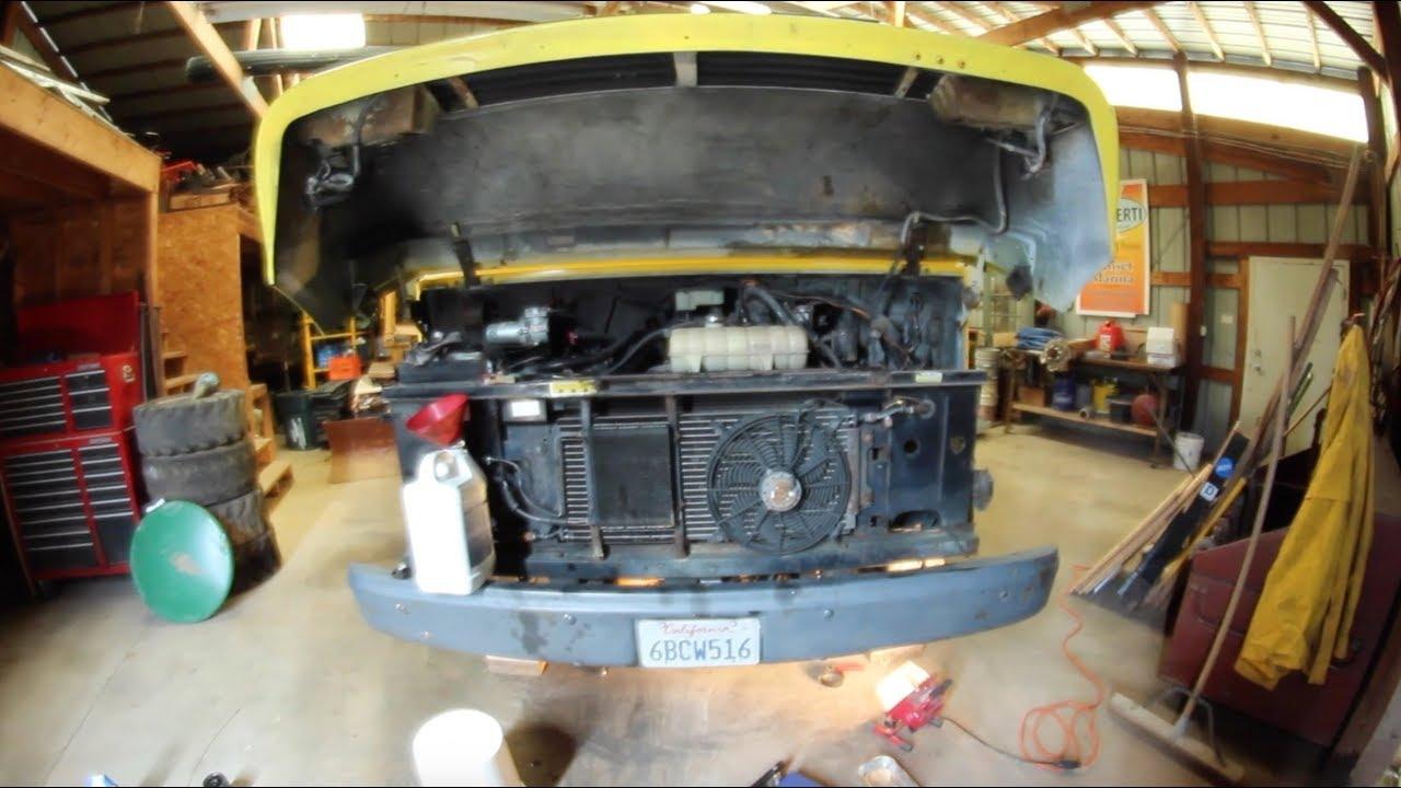 medium resolution of van life oil change 1997 chevrolet p30 diesel step van