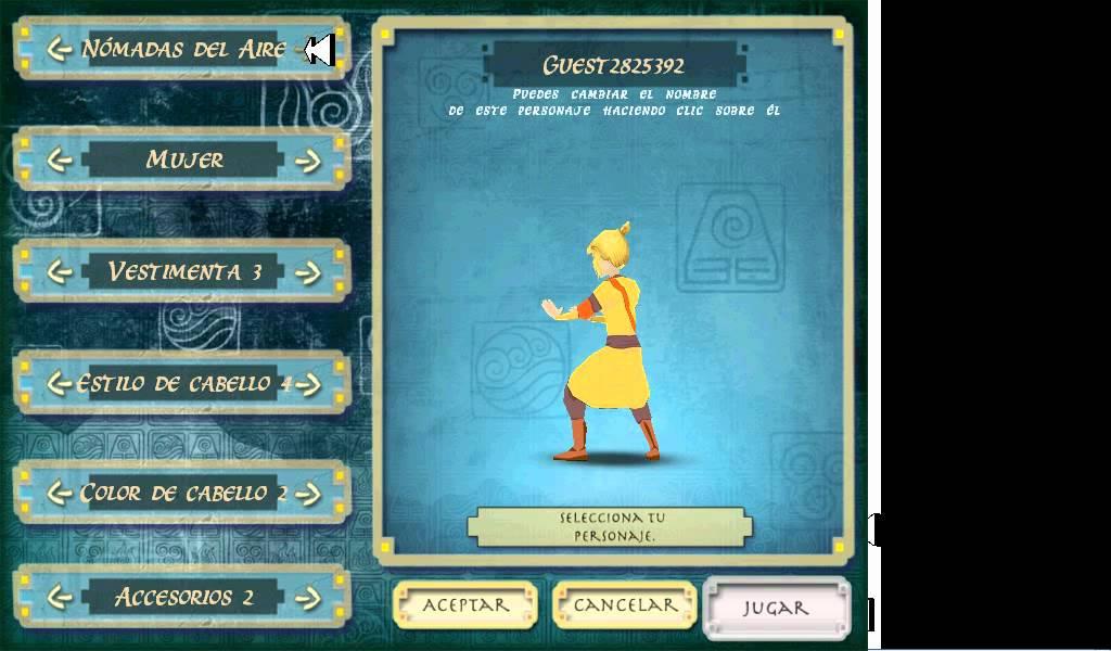 juegos de avatar la leyenda de aang para xo