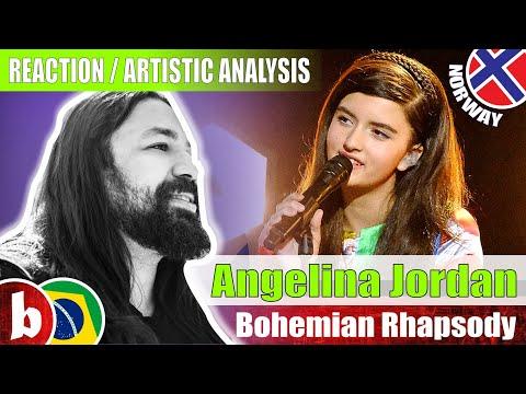 ANGELINA JORDAN - Bohemian Rhapsody   Reaction by Fabricio BamBam (SUBS)