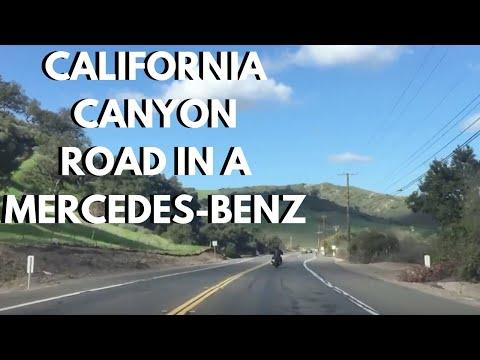Driving Santiago Canyon Road California