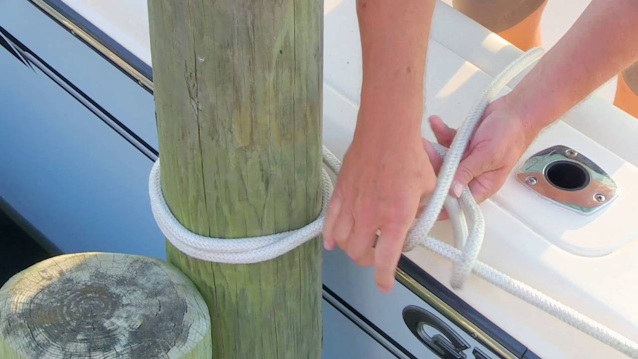 Captain Grady: Tying to a Piling