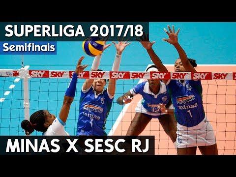 MINAS X SESC RJ JOGO 1 | SEMIFINAL SUPERLIGA 17/18 HD