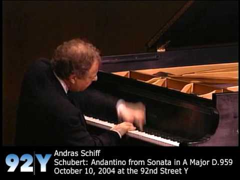 Andras Schiff at 92nd Street Y