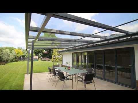 Solarlux Ambition Canopy Roof With Motorised Awning, Buckingamshire