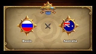 Russia vs Australia, Hearthstone Global Games Group Stage