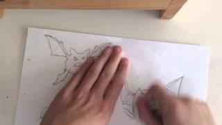 Pokemon Diamond and Pearl - Drawing Zubat