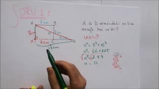8. Sınıf Matematik Pisagor Bağıntısı Soru Çözümü (Adem POLAT)