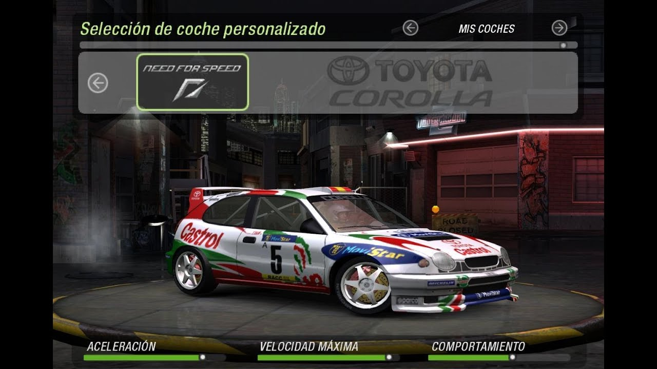 Need For Speed Underground 2 - Toyota Corolla WRC - YouTube