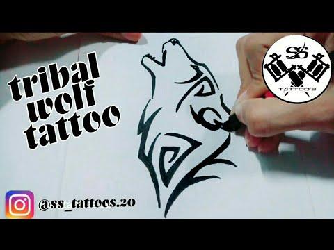 0c3c5f4102dcd How to draw tattoo art of wolf | ss globe - YouTube