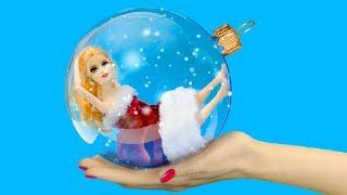 14 बार्बी के क्रिसमस आईडिया और हैक्स / DIY नन्ही बार्बी के सामान
