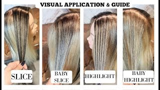 SLICE, BABY SLICE, HIGHLIGHT, BABYLIGHT - Highlighting Guide