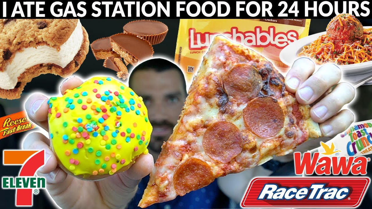 I ate GAS STATION FOOD for 24 HOURS | Wicked Cheat Day