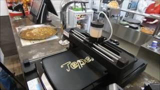 Демонстрация 3Д  печати блинов в ресторане Теремок