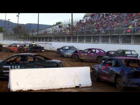Port Royal Speedway 4 Cylinder Compact Demolition Derby 9/1/14