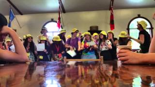 Staff welcome song at Centauri Arts Camp 2015 (PHONE-VID, Non-Pro)