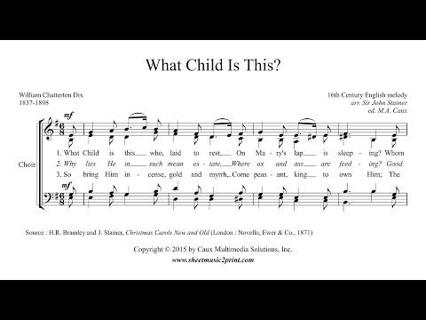 What Child Is This? - Choir SATB