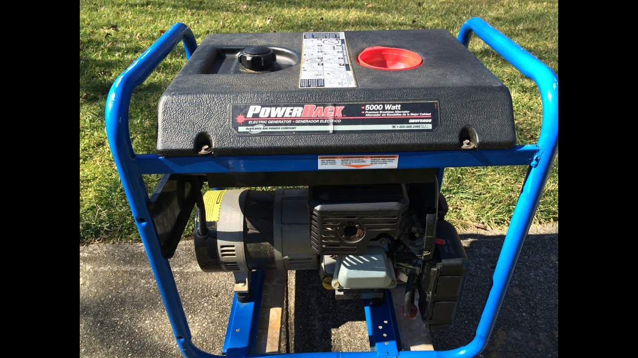 medium resolution of coldstart powerback 5000 watt electric generator 9hp briggs stratton engine feb 8 2015