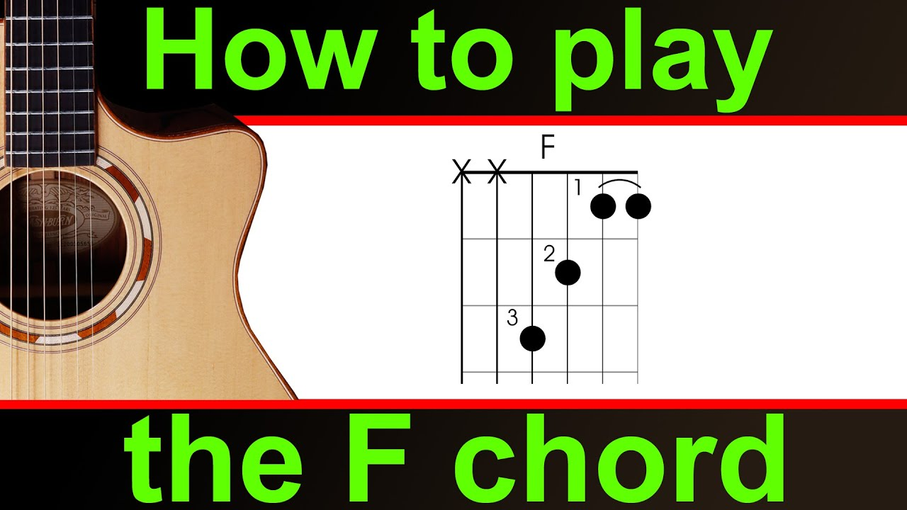 How To Play The F Chord On Guitar Play The F Major Chord Correctly
