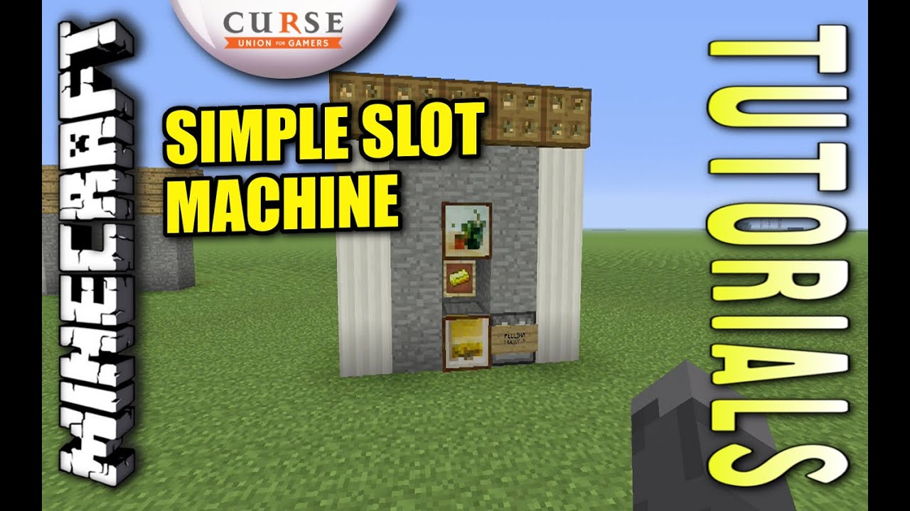 Minecraft PS4 - SIMPLE SLOT MACHINE - How To - Tutorial ...