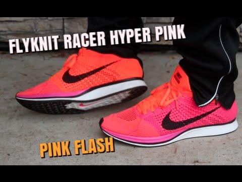 83f0ffd9e09c3 ... Nike Flyknit Racer Pink Flash ON FEET! - YouTube . ...