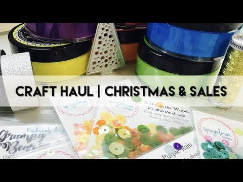 Scrapbooking Haul | Christmas Gifts &  Sale Shopping