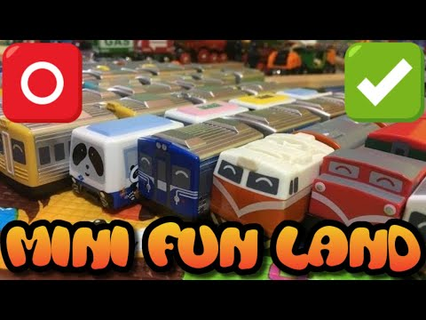 unboxing 15 different pull back train toy from Taiwan  (000147 en)