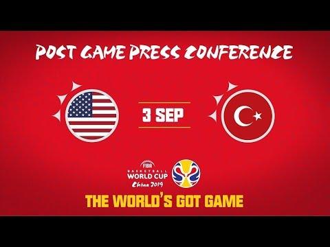 USA v Turkey   Team USA - Press Conference   FIBA Basketball World Cup