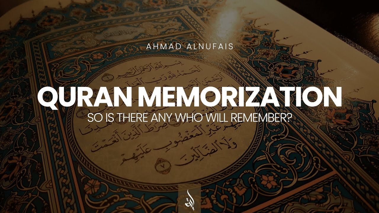 So is there any who will remember?   Al-Qamar 13-17   Ahmad AlNufais   أحمد النفيس