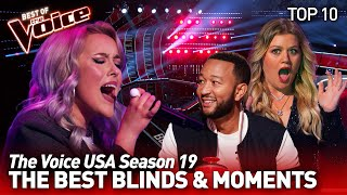 The Voice USA: The best Blind Auditions & Moments of season 19 | Top 10