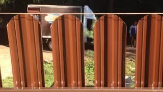 Забор металлический штакетник установка, часть 2