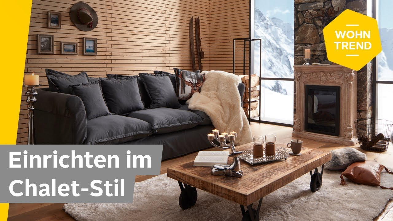 einrichten im chalet stil wohnzimmer rustikal einrichten roombeez powered by otto youtube. Black Bedroom Furniture Sets. Home Design Ideas
