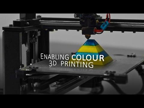 0 - Mehrfarbiger 3D-Druck mit nur einem Extruder