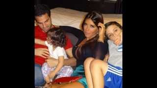 Cesc Fabregas showing his love for his family.