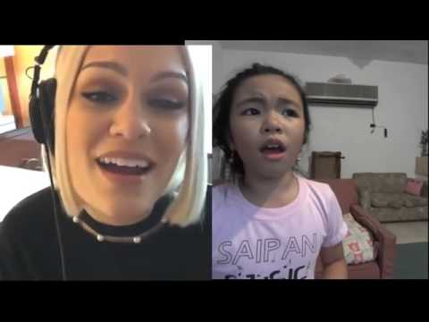 Flashlight JessieJ and Bernice Shane 9 yo Smule Sing! Karaoke App