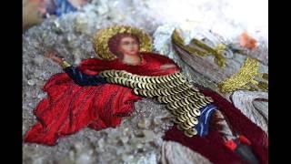 Вышивка иконы.Святой Георгий Победоносец