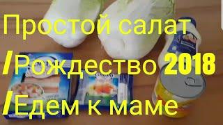 ГЕРМАНИЯ / ПРОСТОЙ САЛАТ / VLOG /РОЖДЕСТВО 2018 / ЕДЕМ К МАМЕ /.