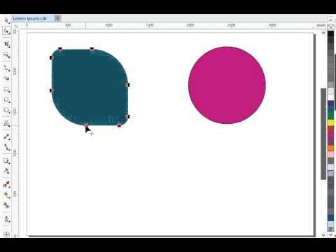 CorelDRAW - Node Editing - YouTube