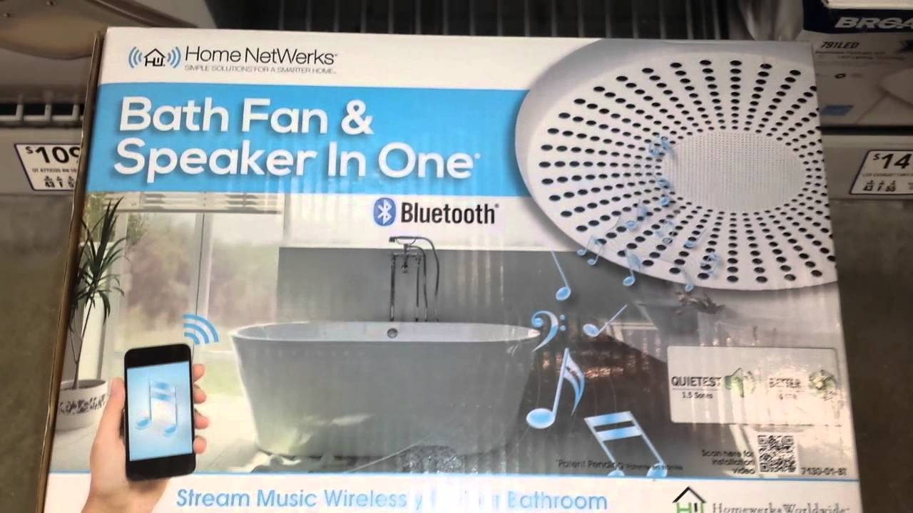 YOUR #BLUETOOTH #MUSIC, ON A #BATHROOM #FAN ! - YouTube