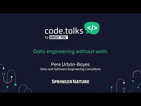 code.talks 2017 - Data engineering without walls (Pere Urbón-Bayes)