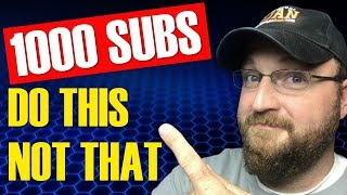 How To Get 1000 Subscribers on YouTube