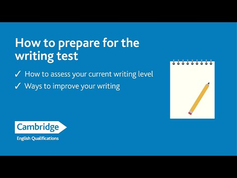 FB Live How to prepare for the writing test