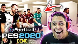 Jogando PES 2020 DEMO!! Gameplay É Melhor que o FIFA?! 🏆🔥