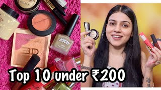 My TOP 10 MAKEUP PRODUCTS UNDER RS. 200 | Top 10 Makeup Products in India for Rs. 200