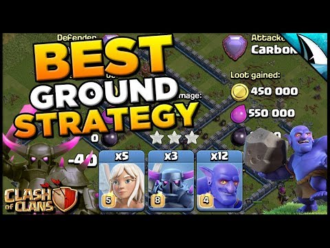 Best Ground Attack Strategy Th 12 - Pekka Smash | Clash Of Clans