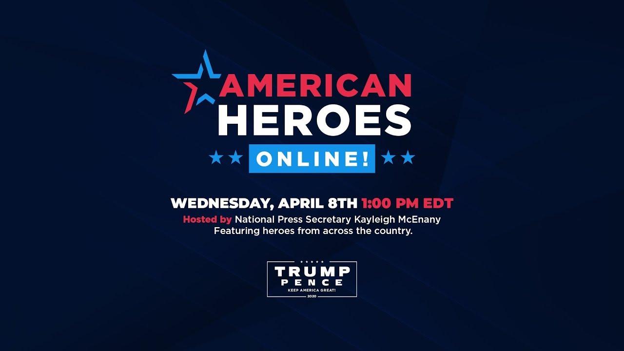 American Heroes Online! 1pm EST (4/8/2020)