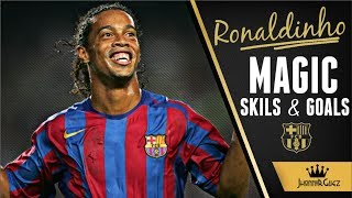 Ronaldinho Gaucho || Magic Skills Tricks and Goals || FC Barcelona 2003-2008 || ᴴᴰ