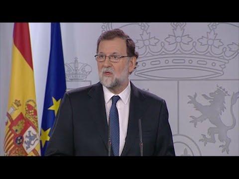 Rajoy propone destituir al gobierno catalán y hacer elecciones