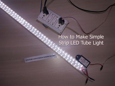 how to make simple strip led tube light youtube rh youtube com