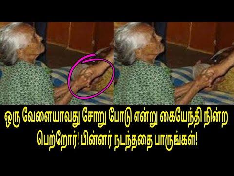 ஒரு வேளையாவது சோறு போடு என்று கையேந்தி நின்ற பெற்றோர்! பின்னர் நடந்ததை பாருங்கள்! | Tamil Video
