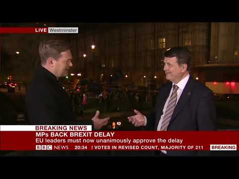 UKIP Leader Gerard Batten reacts to Article 50 extension and Brexit betrayal